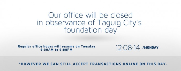 (Taguig City's Foundation day) Dec 8, 2014