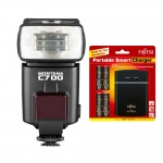 Camera Flash and Battery bundle Montana C700 and Fujitsu rechargeable batteries