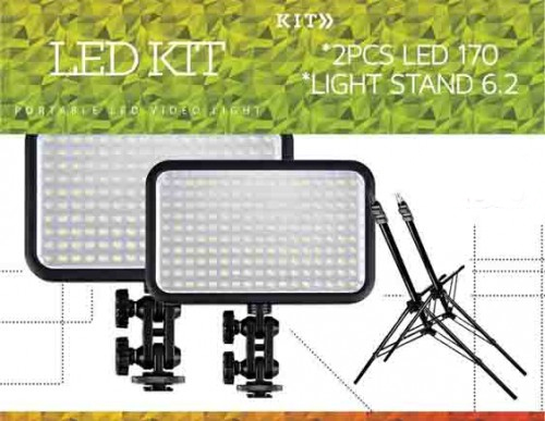 Led Studio Kit Video Production Lighting Specialized Lights For Events Photobooth