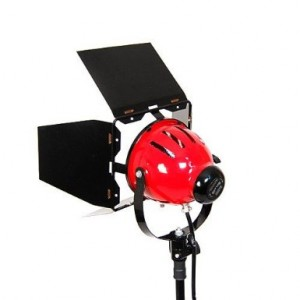 Red Head 800w classical powerful tungsten light by Photozuela, model Testa Rossa