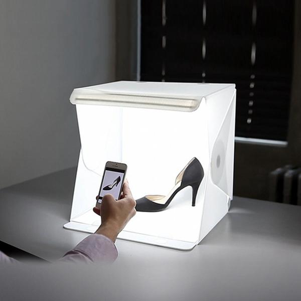Portable Product Photography Studio With Lighting: Portable Mini LED Light Soft Box