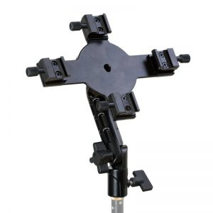 Quad Flash Bracket with Umbrella Holder